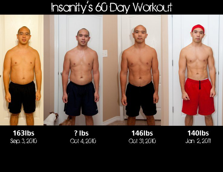 insanity workout review before and after