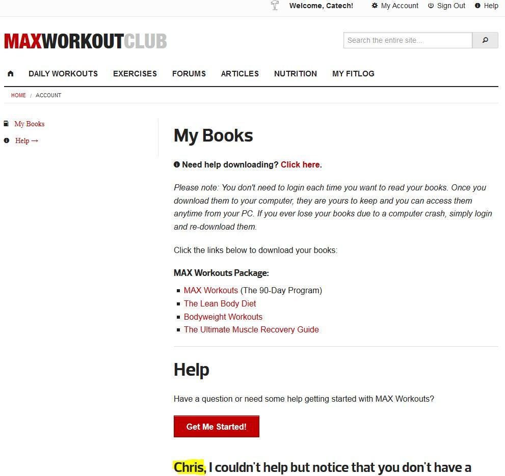 Max Workouts 90 Day Program