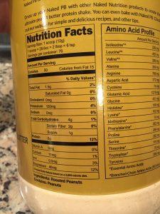 Naked Powder PB Ingredients
